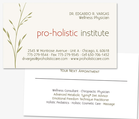Chicago web design graphic design and seo by leadtooth graphic pro holistic business card design colourmoves