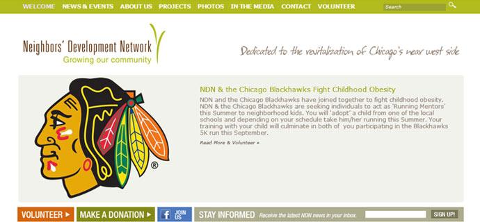 NDN web site design
