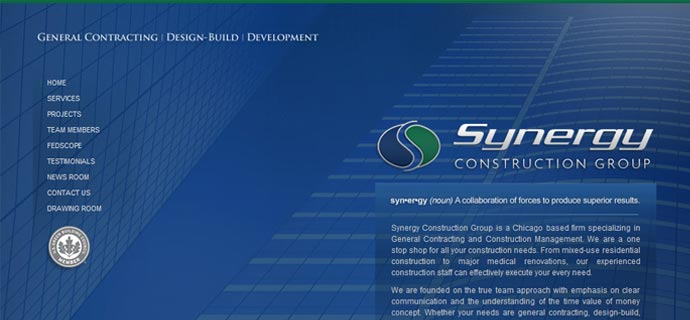 Synergy web site redesign