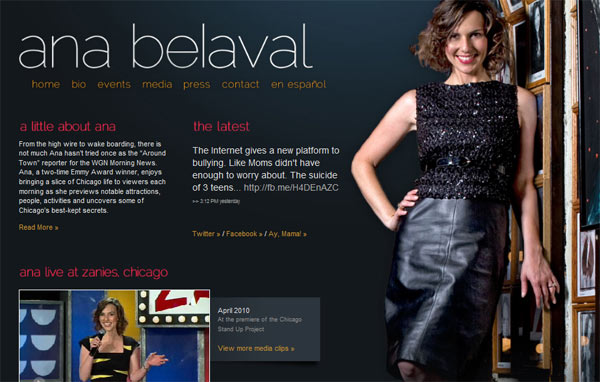 Ana Belaval website design