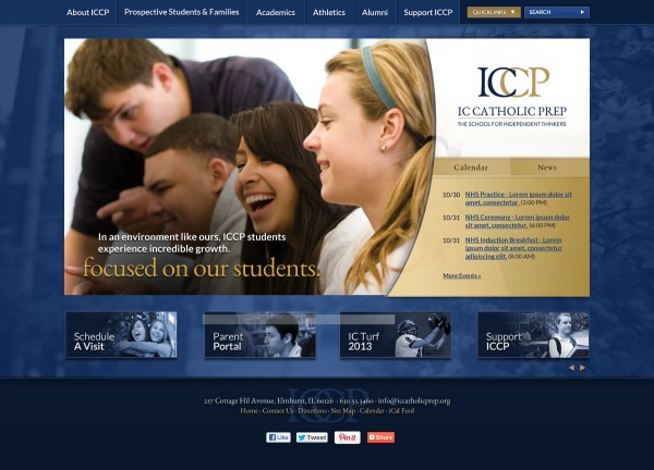 IC Catholic Prep website