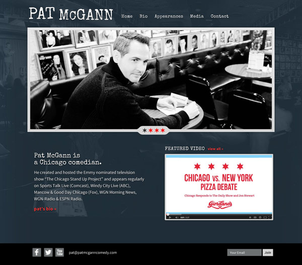 Pat McGann website
