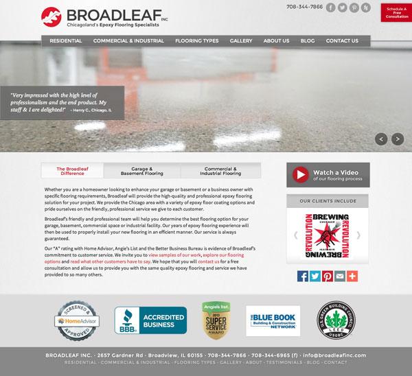 Broadleaf Inc Web Site Design
