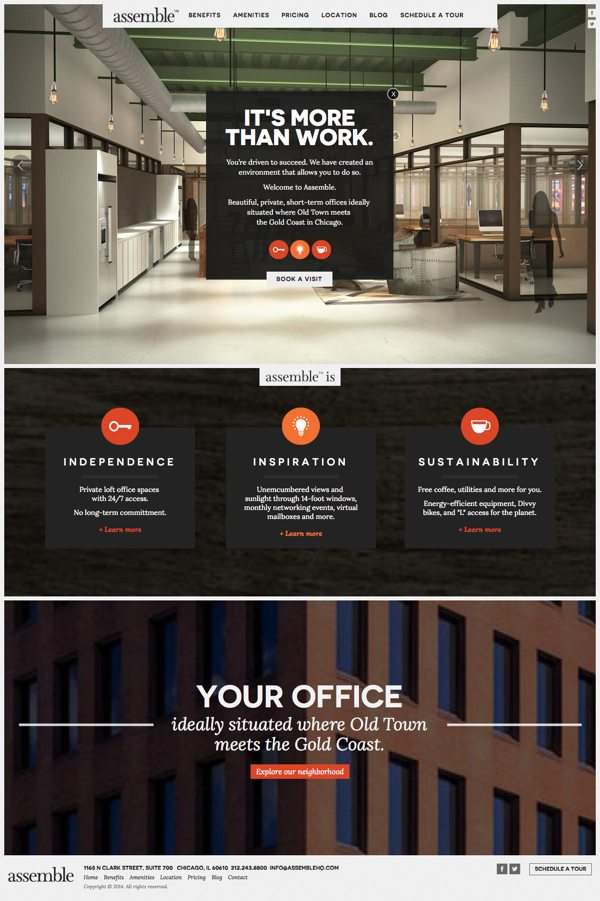 Chicago web design graphic design and seo by leadtooth Shared office space design