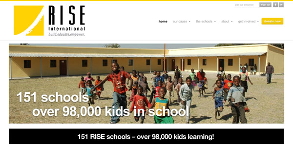 Rise International web site enhancements