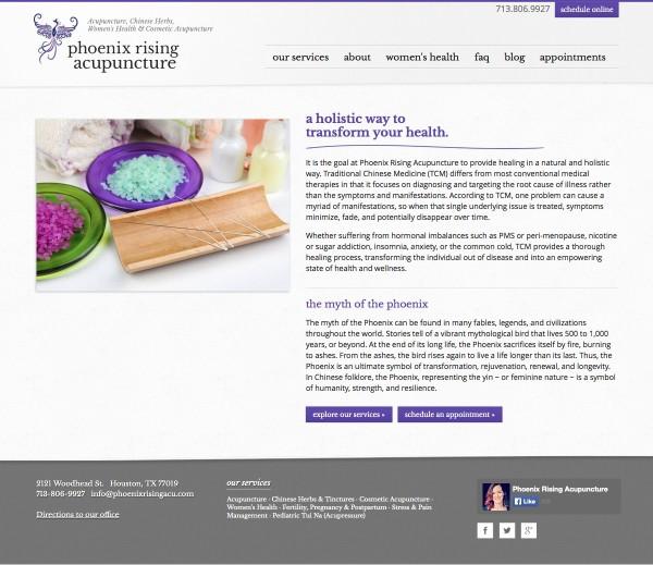 Houston Acupuncture Website