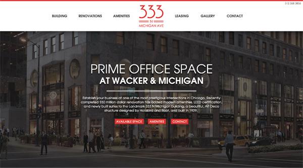 333 N Michigan Web Site
