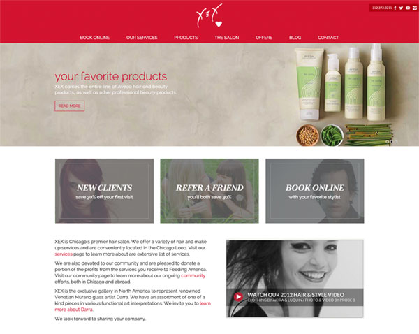 XEX Hair Gallery web site
