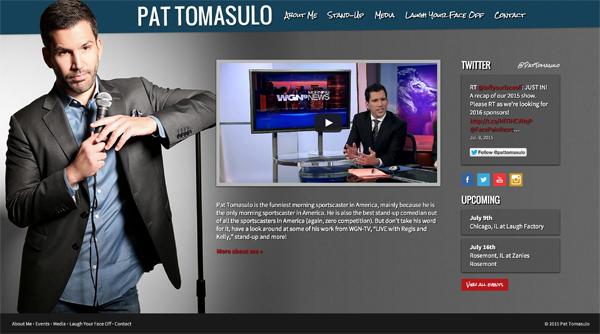 Pat Tomasulo Web Site Design