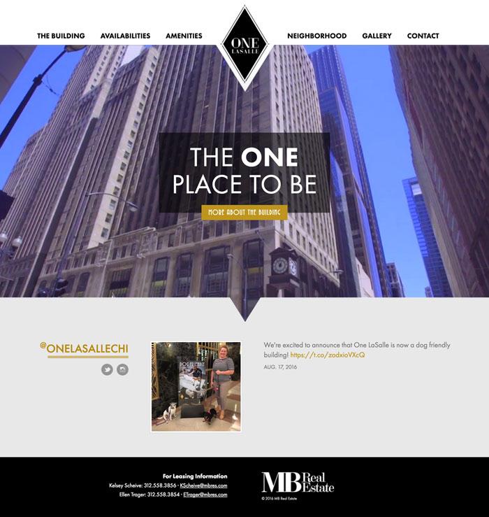 One LaSalle Website Design