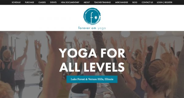 Chicago Web Design Graphic Design And Seo By Leadtooth Forever Om Yoga Web Site Design Development