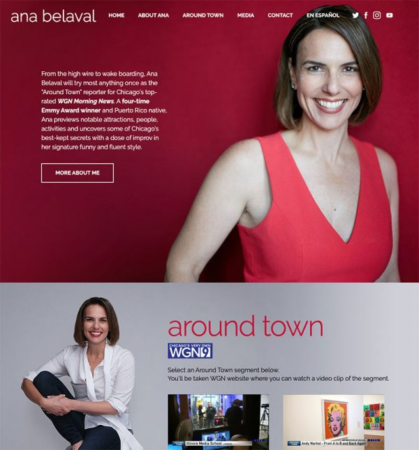 Ana Belaval Web Site Design