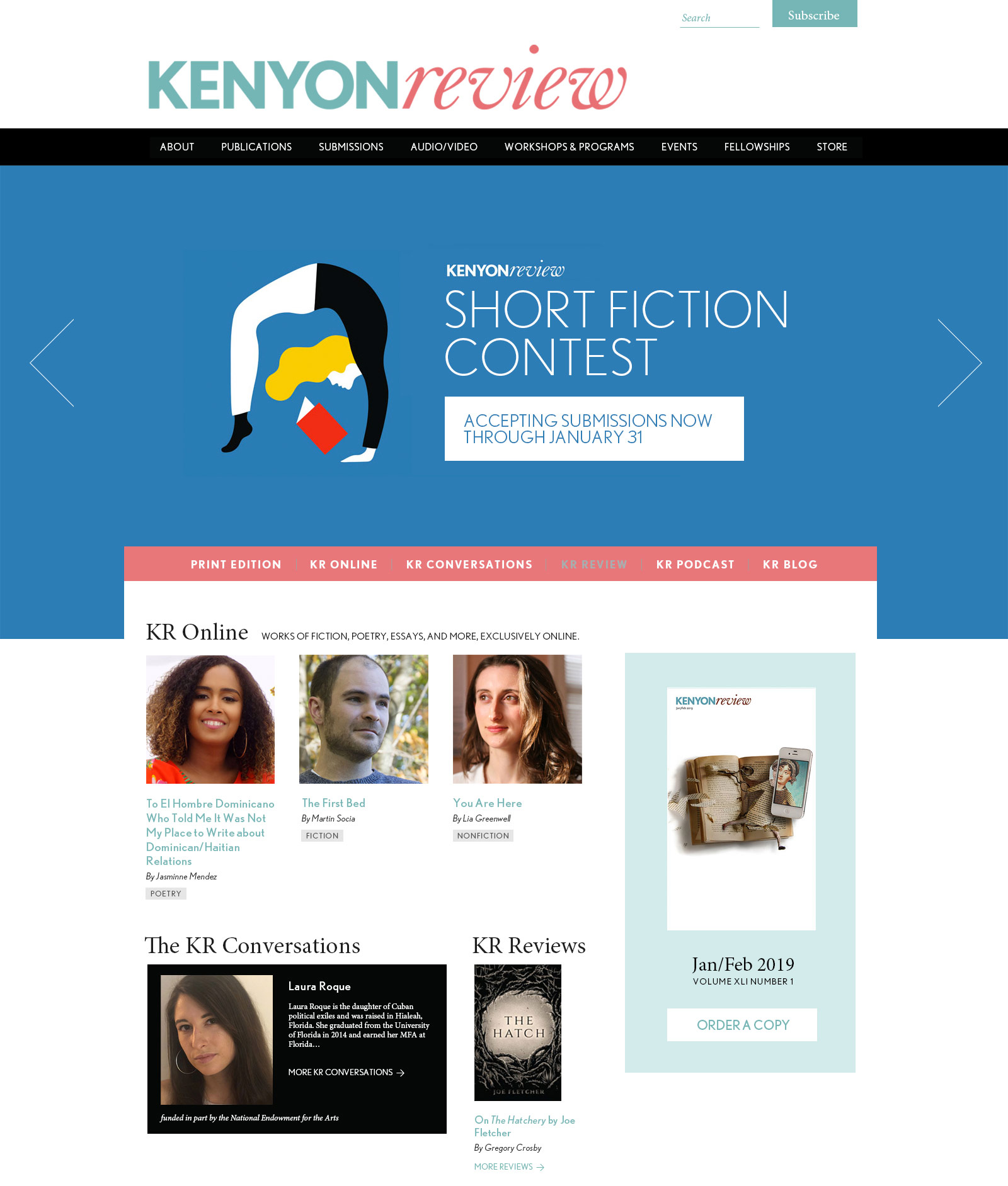 Kenyon Review Web Site Design