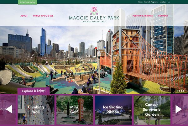Maggie Daley Park Web Site Design