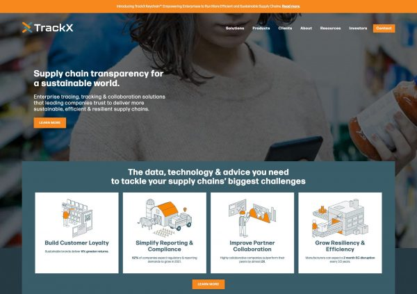 TrackX Website Design